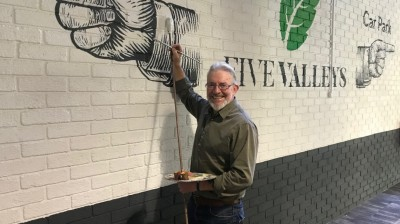 Artist Mark draws on his talents to put Five Valleys on the map!